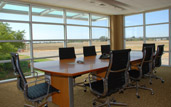 davis flight support luxury fbo conference room photo